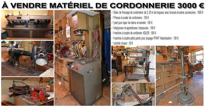 brico jardin a vendre mat riel de cordonnerie rh ne alpes dr me hetoctoc. Black Bedroom Furniture Sets. Home Design Ideas